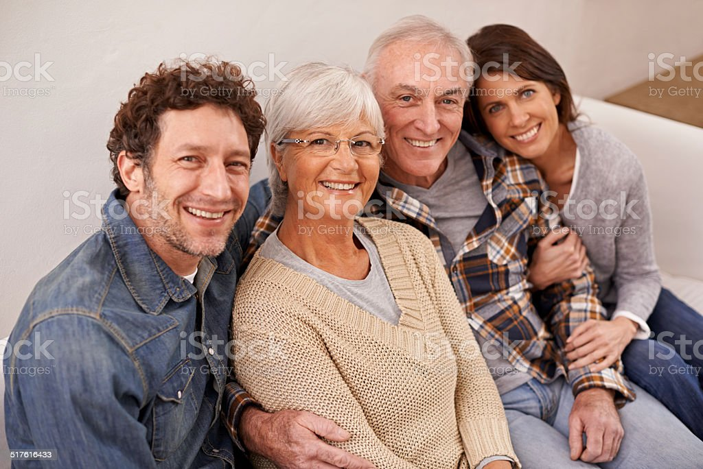 Spending time with mom and dad stock photo