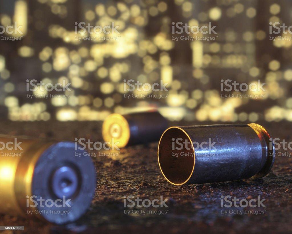 Spent Bullet Casings stock photo