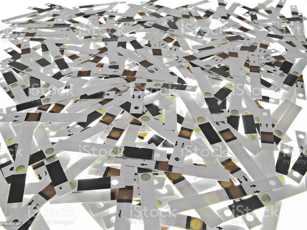 Spent test strips - background royalty-free stock photo