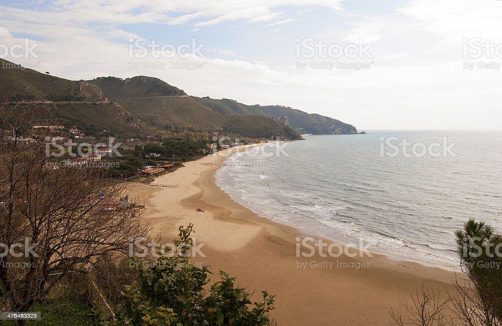 Sperlonga Beach royalty-free stock photo