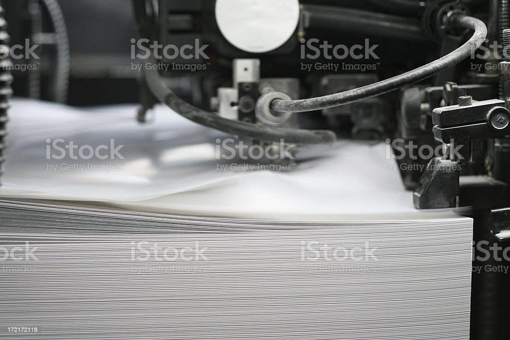 spesial equipment in printing plant royalty-free stock photo