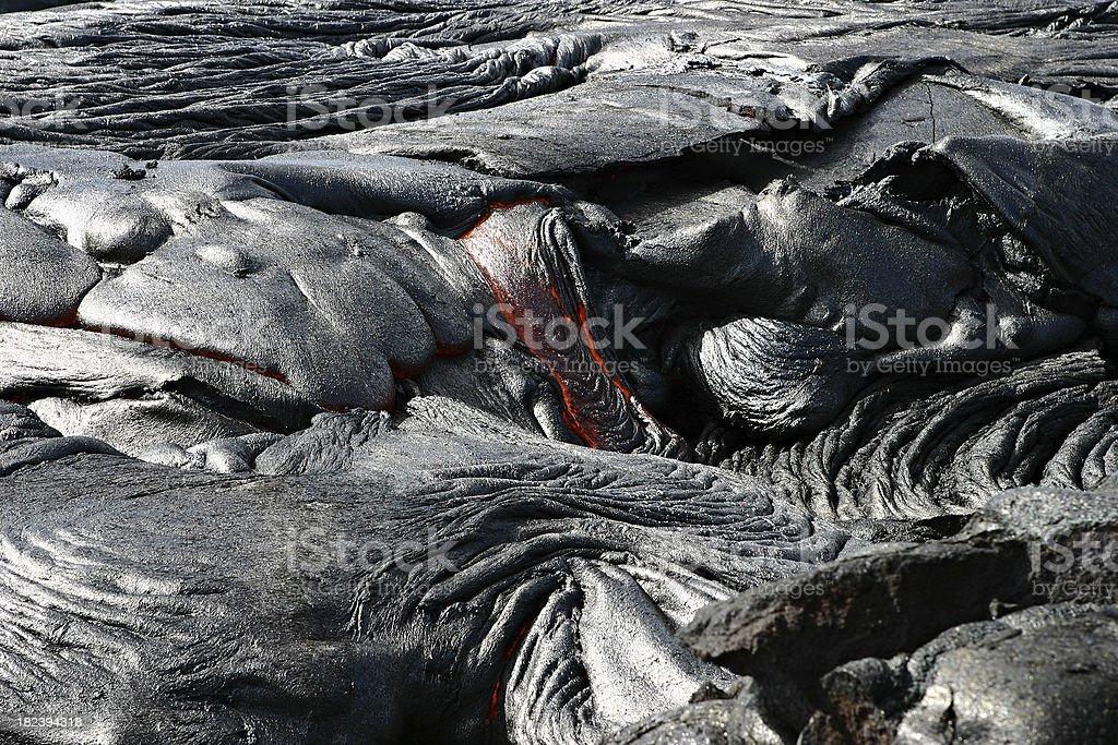 Vomitando Lava Hawaii foto stock royalty-free