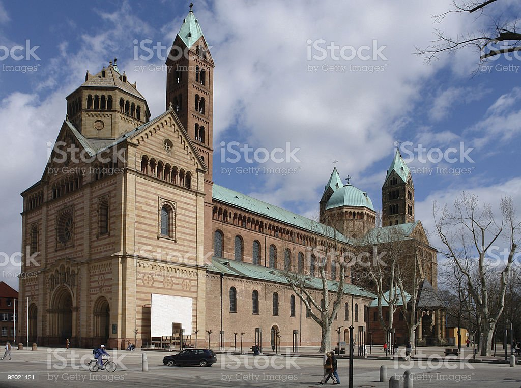 Speyer Cathedral royalty-free stock photo
