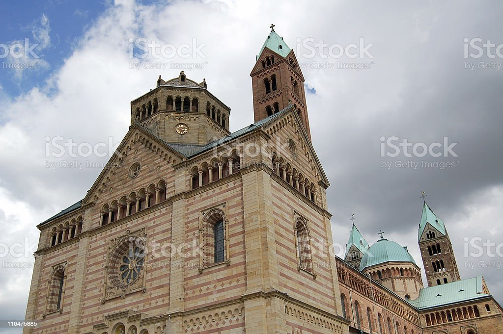 Speyer Cathedral st. maria stock photo
