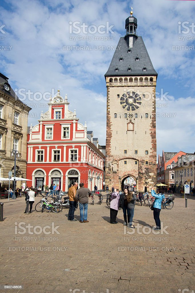 Speyer Clocktower, Germany stock photo