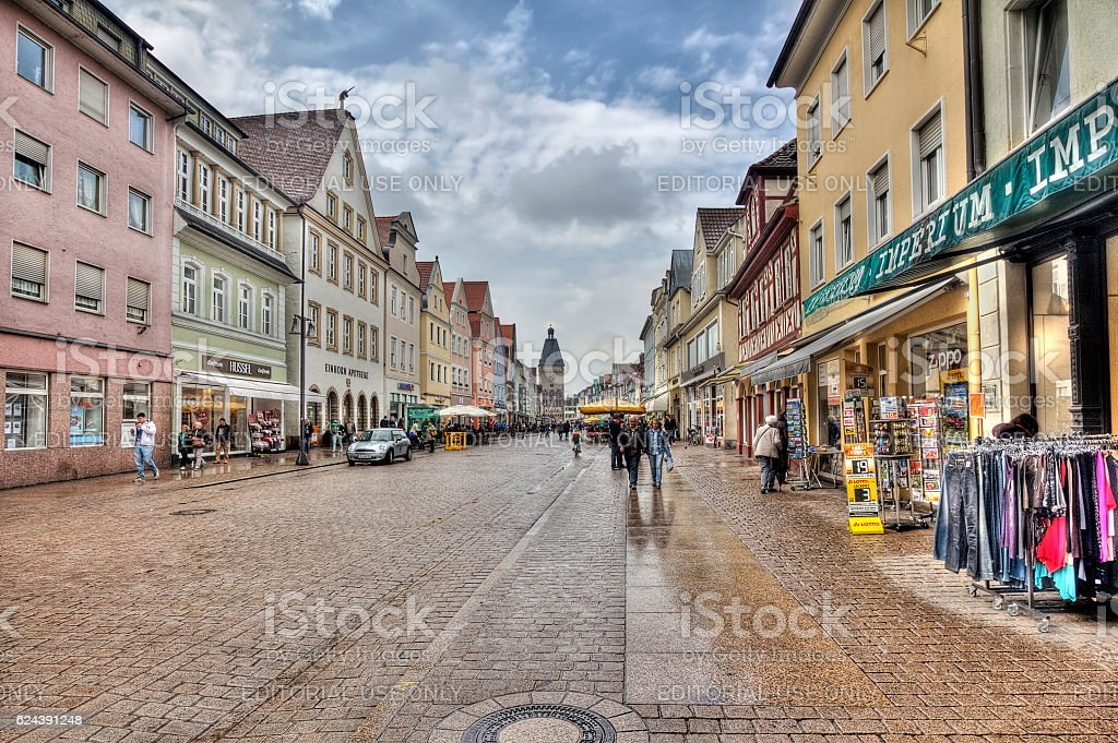 Speyer main street, Germany stock photo