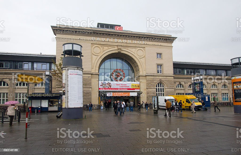 Speyer Railway Station, Germany stock photo