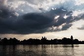 speyer rhine with cloudy smiley