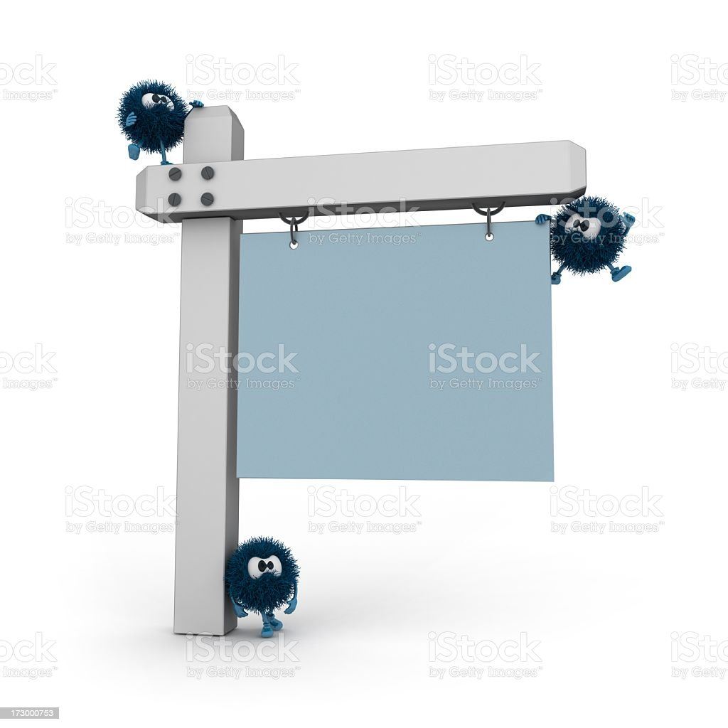 Sphefurs and Information Sign royalty-free stock photo