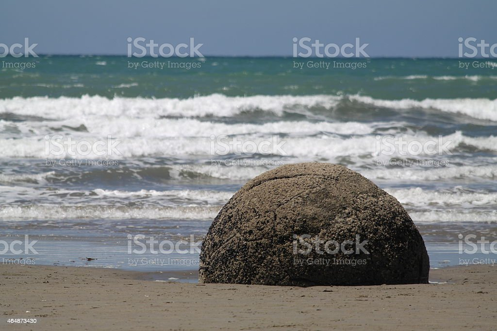 Sphere and waves stock photo