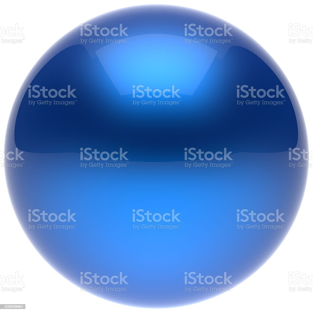 Sphere ball button circle round basic solid bubble figure blue stock photo