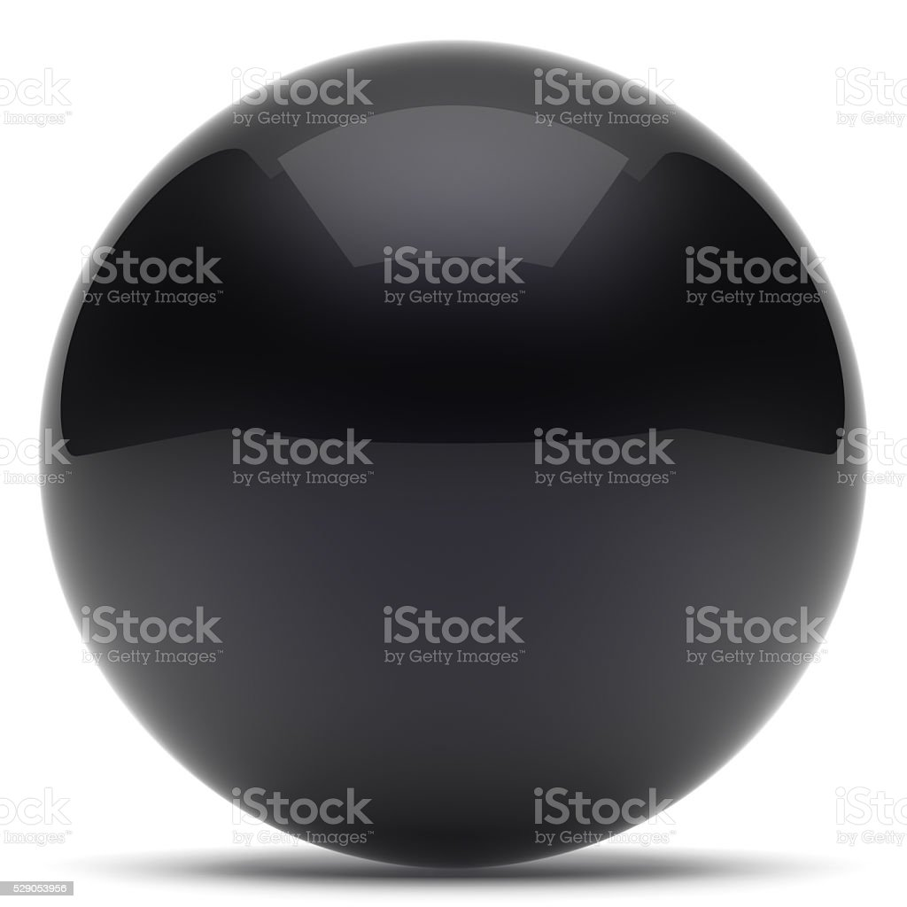 Sphere ball geometric shape button round basic circle black stock photo