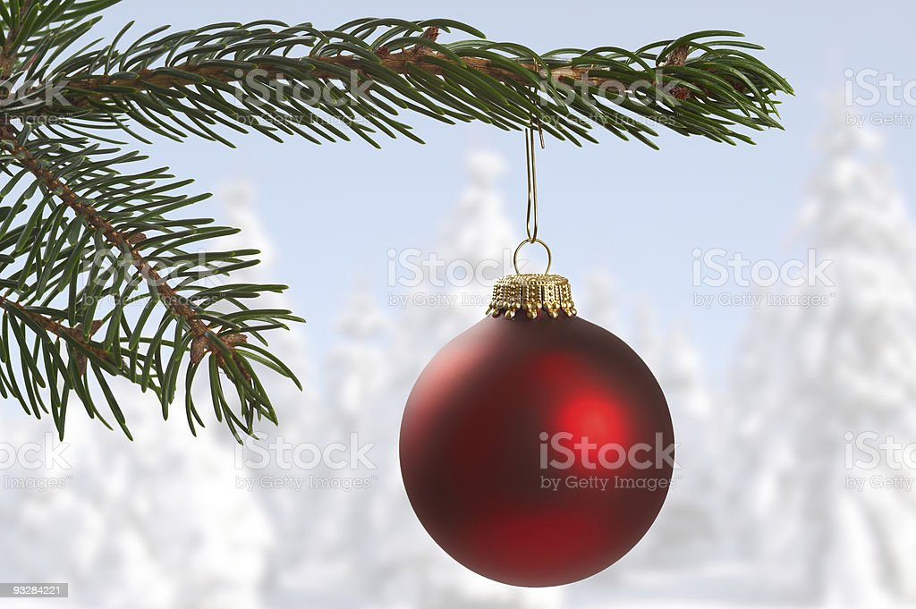 sphere for christmas tree royalty-free stock photo
