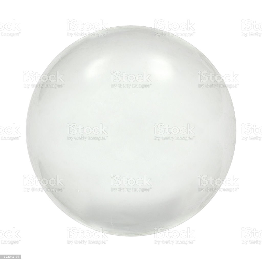 Sphere glass ball, isolated on white background, with clipping p stock photo