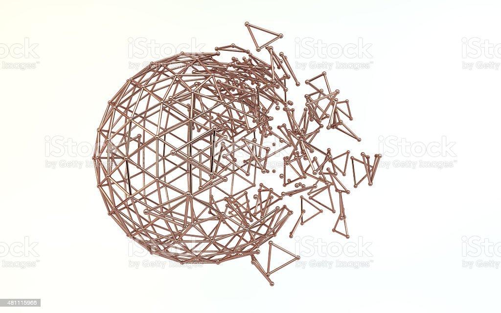 sphere grid stock photo