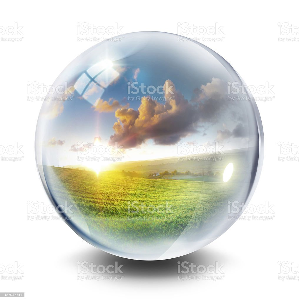 sphere icon for environment concept stock photo