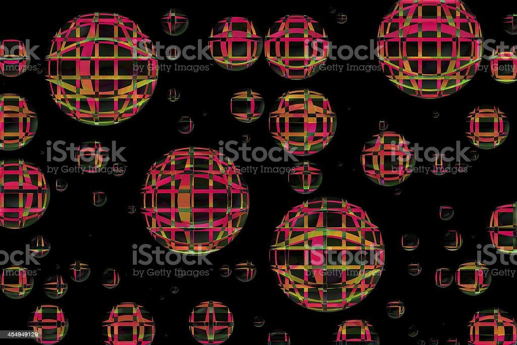 3D sphere in space stock photo