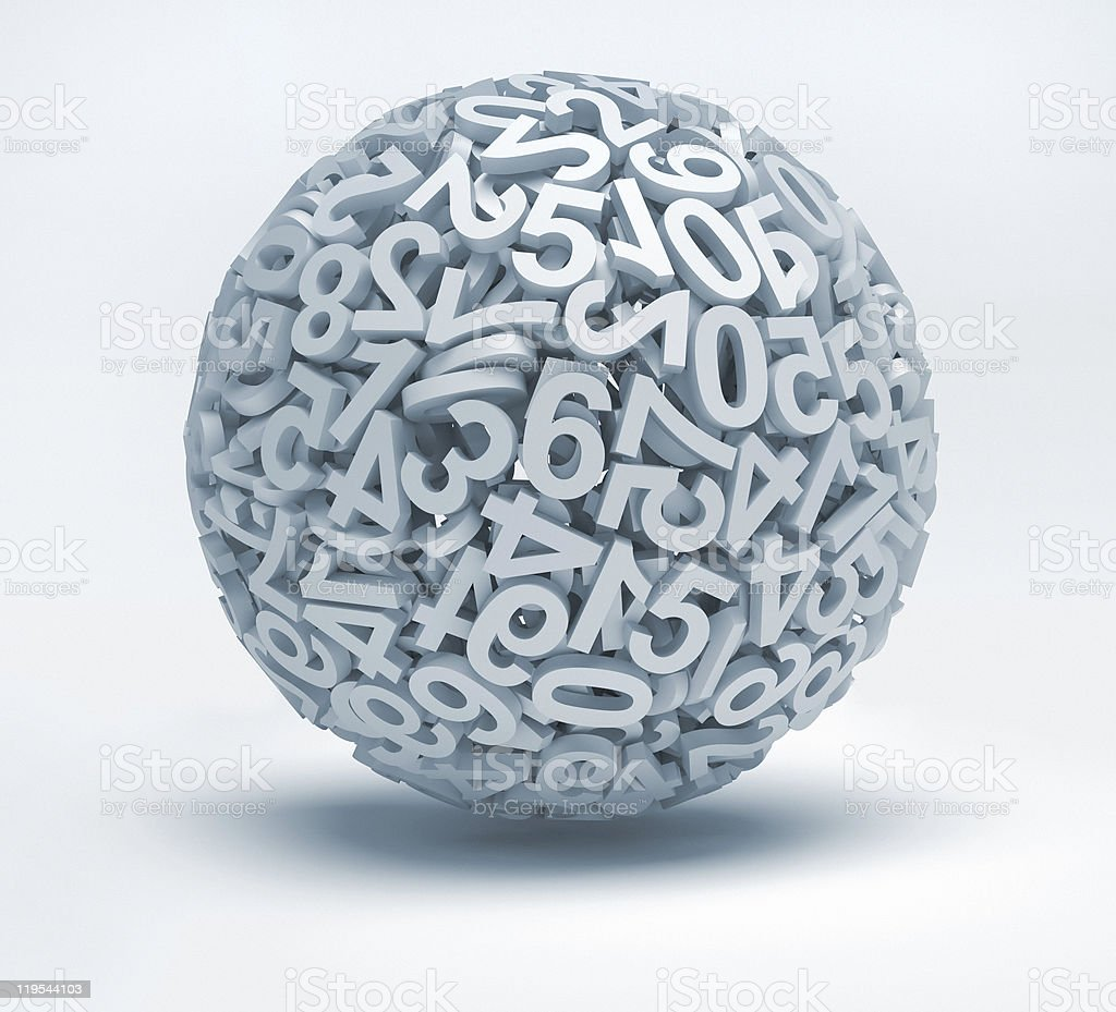 Sphere of numbers royalty-free stock photo