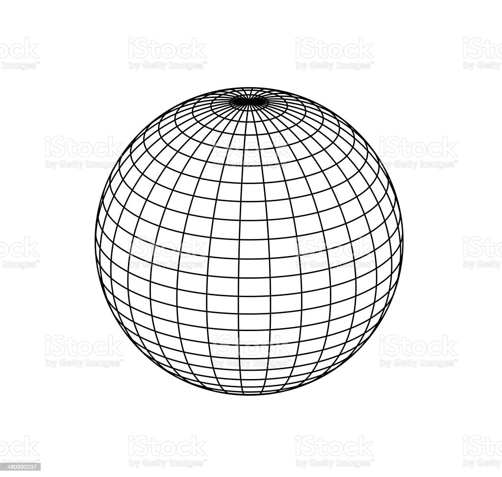 sphere on white background stock photo
