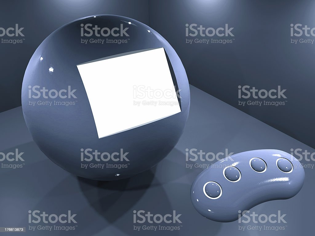 Sphere showroom royalty-free stock photo