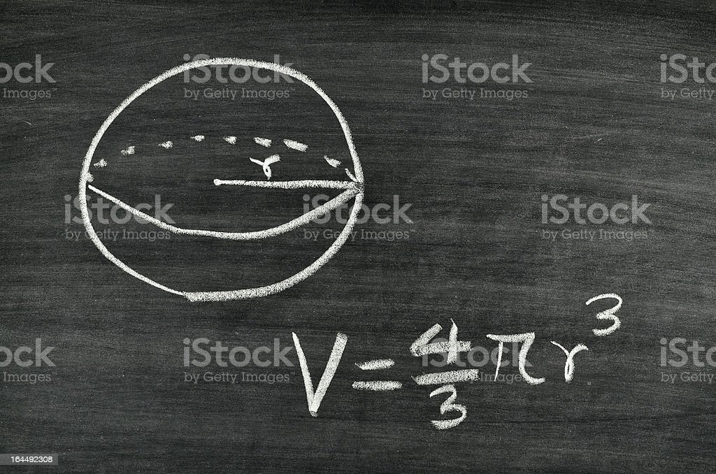 Sphere volume formula royalty-free stock photo