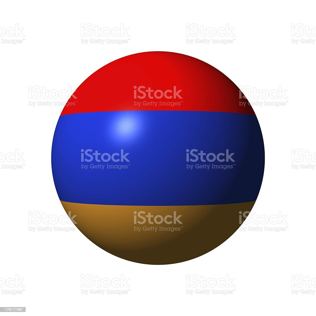 Sphere with flag of Armenia stock photo