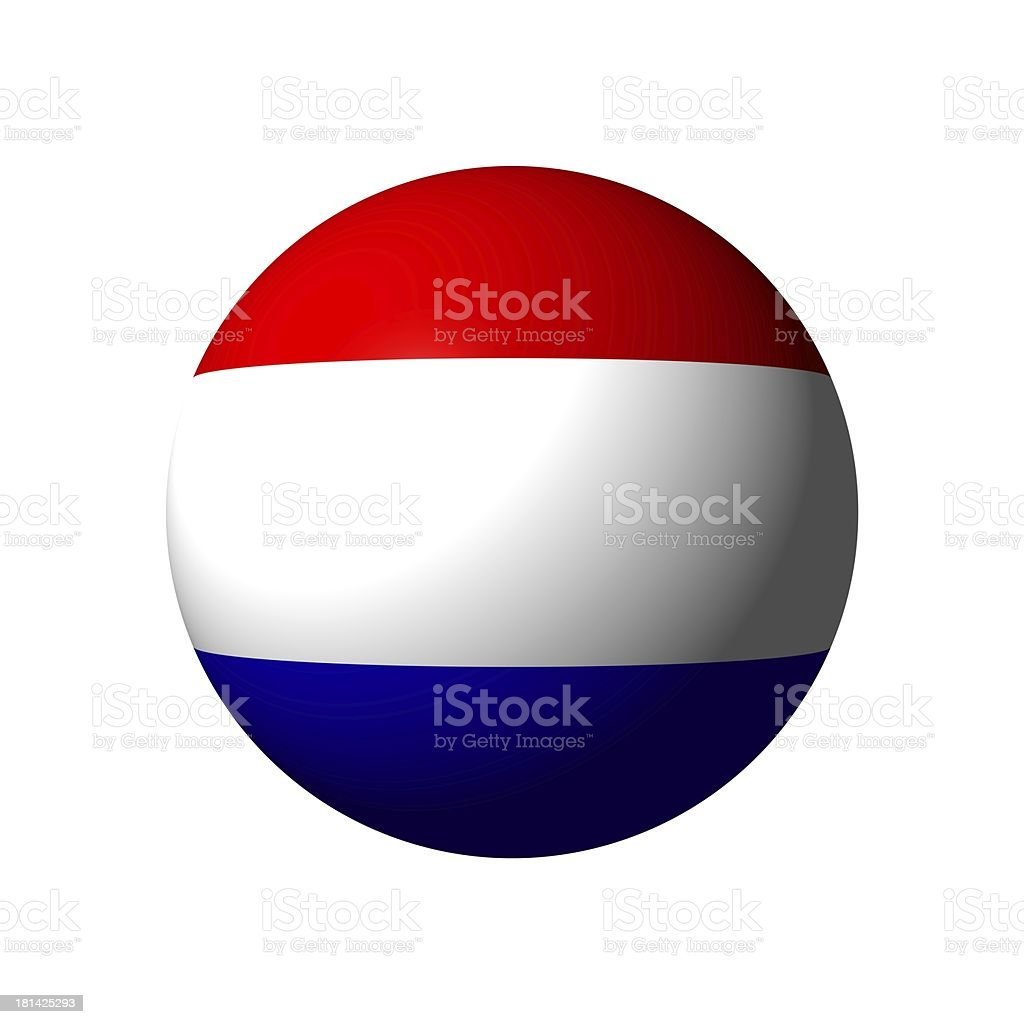 Sphere with flag of The Netherlands royalty-free stock photo