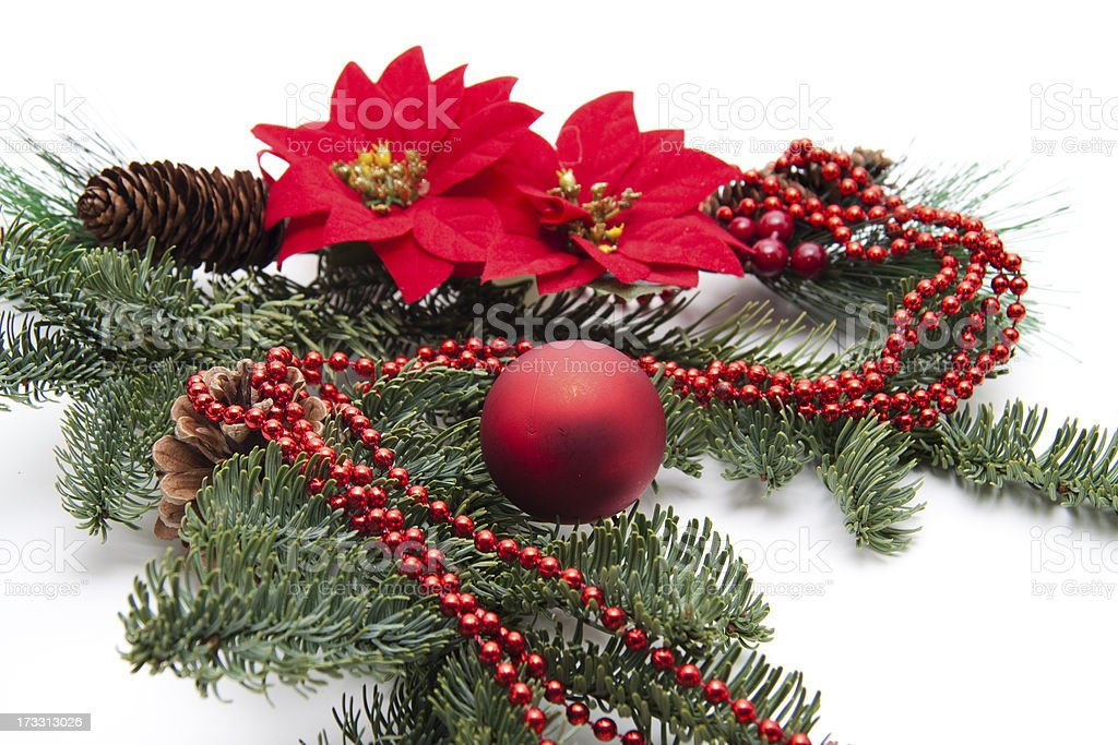 Sphere with poinsettia and chain royalty-free stock photo