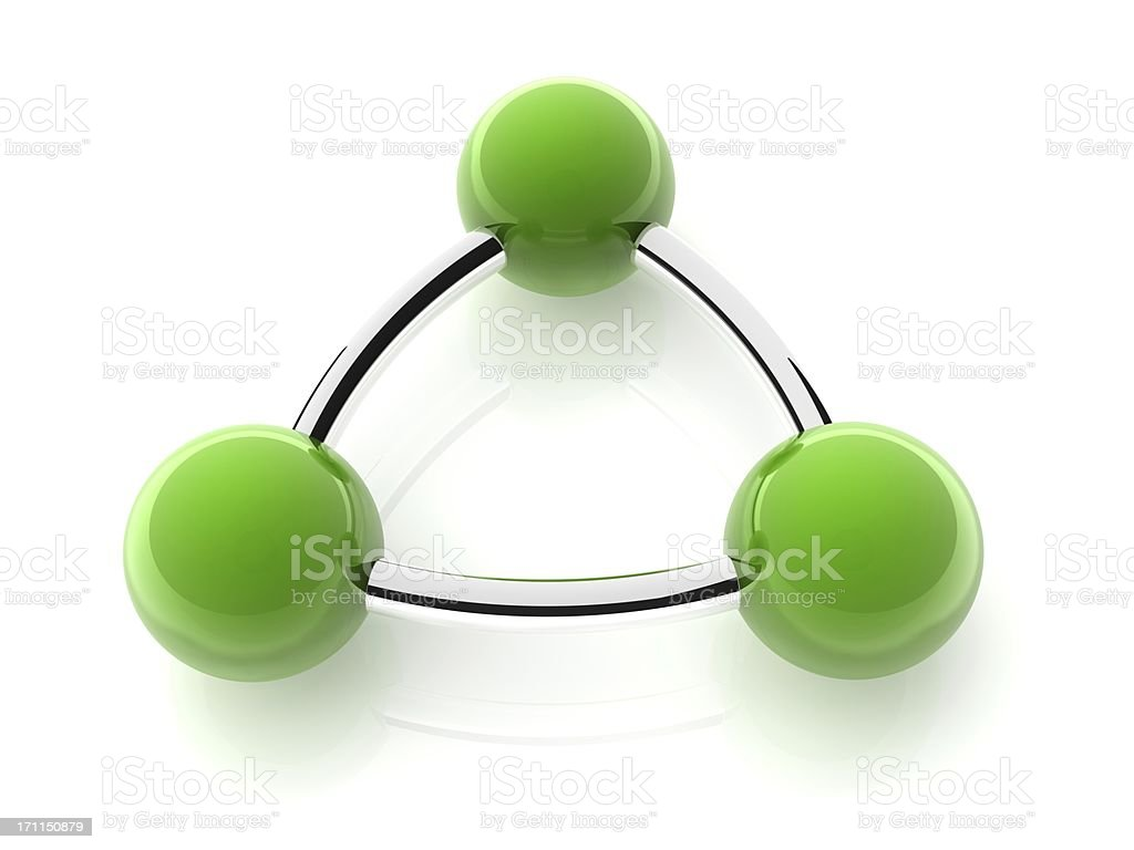 spheres and tubes royalty-free stock photo