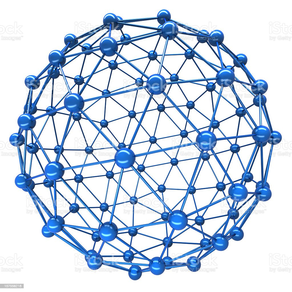 Spherical connection royalty-free stock photo