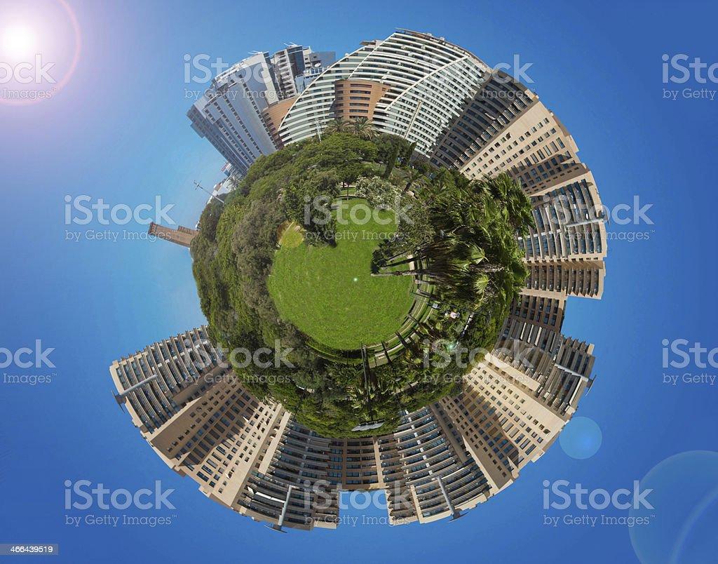 Spherical panorama royalty-free stock photo