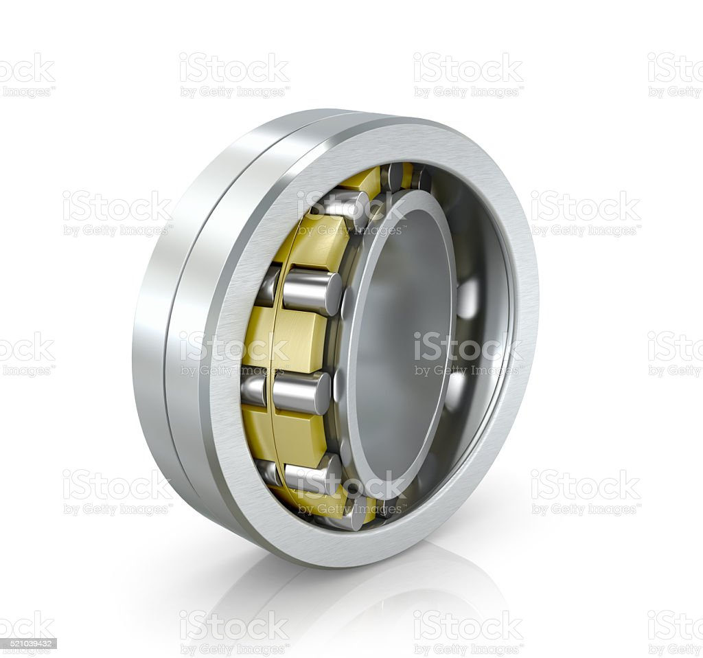 Spherical radial bearing isolated white background. 3D illustration. stock photo