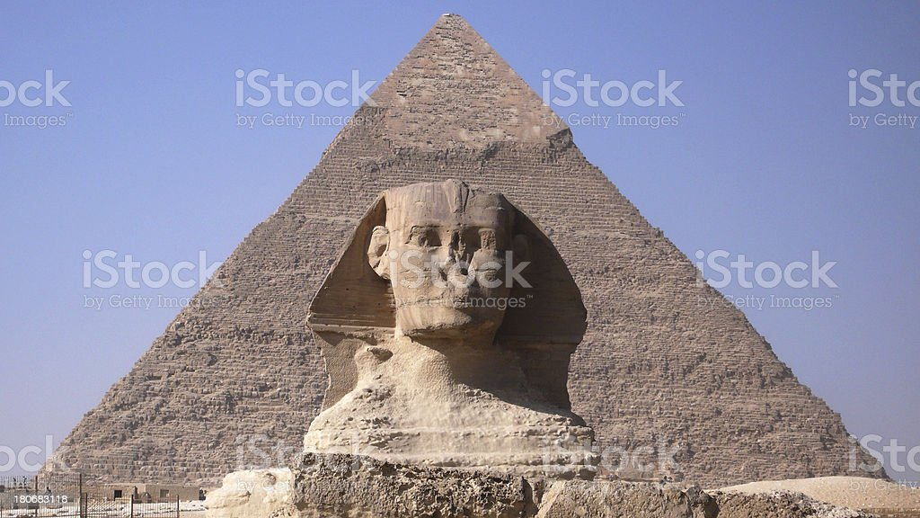Sphinx and Pyramid. Egypt royalty-free stock photo