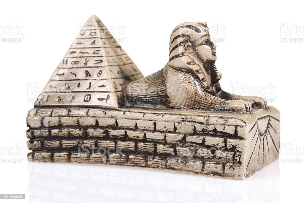 Sphinx and the Great Pyramid stock photo