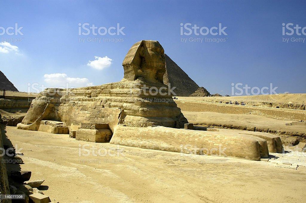 Sphinx at the Giza Pyramids royalty-free stock photo