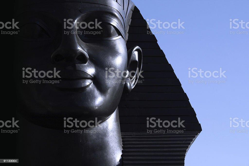 Sphinx bronze sculpture close-up stock photo