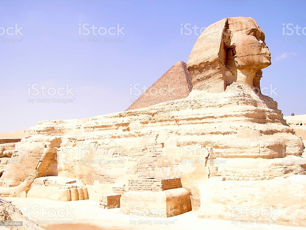 Sphinx - Egypt, Africa - profile royalty-free stock photo