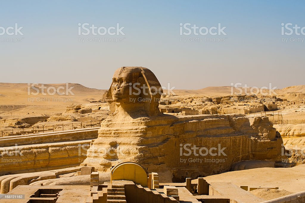 Sphinx Full Body Profile Empty stock photo