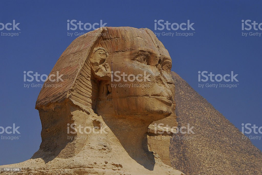 sphinx head in egypt royalty-free stock photo