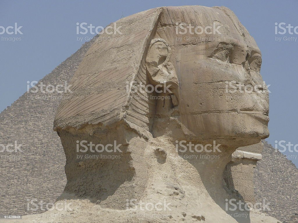 Sphinx head royalty-free stock photo