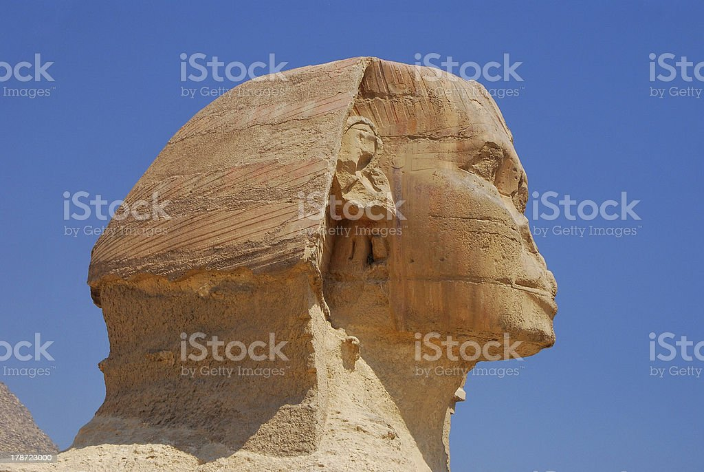 sphinx head side view royalty-free stock photo