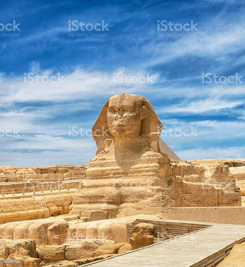 Sphinx in Cairo, Egypt stock photo