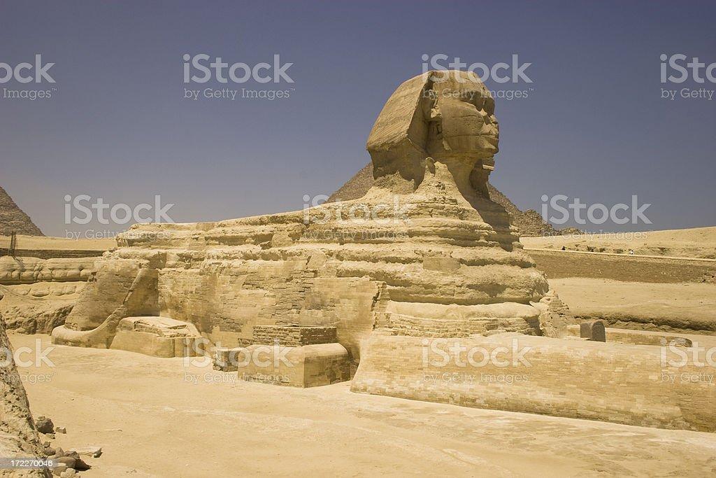 Sphinx in Cairo stock photo