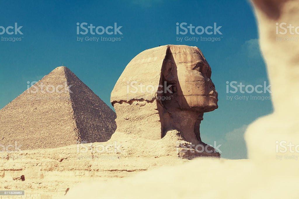 Sphinx of Giza stock photo