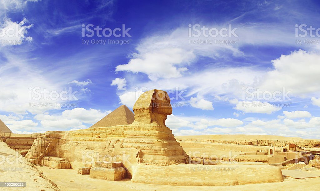Sphinx Panorama stock photo