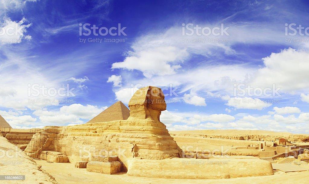 Sphinx Panorama stock photo