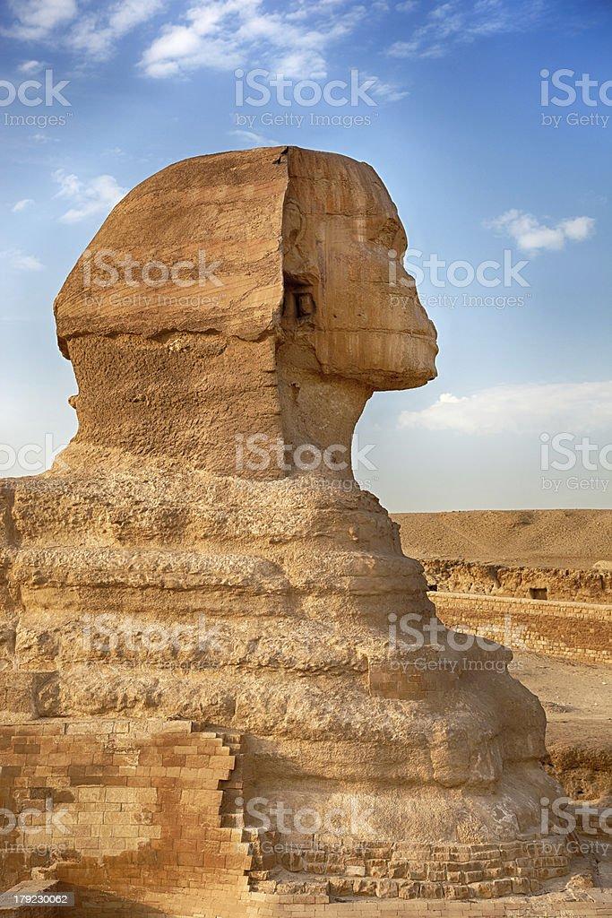 Sphinx profile royalty-free stock photo