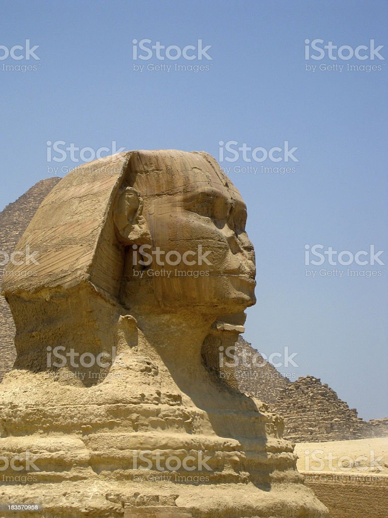 Sphinx statue at Giza Egypt royalty-free stock photo