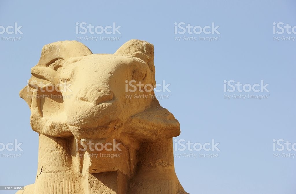 Sphinx. The Karnak Temple Complex in Luxor, Egypt. royalty-free stock photo