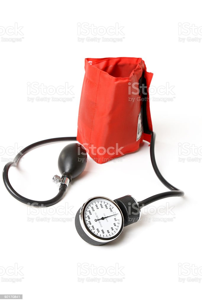 sphygmomanometer - bp cuff stock photo
